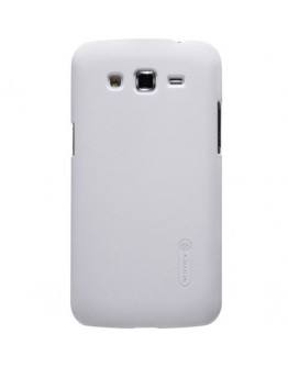Carcasa protectie spate + folie ecran pentru Samsung Galaxy Grand2 G7102/7105 - alba